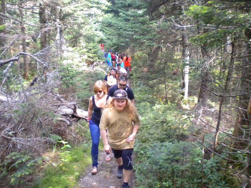 Vyto hiking with Jesus